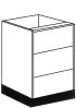 3 drawer kitchen unit