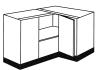 Corner base unit kitchen cabinet